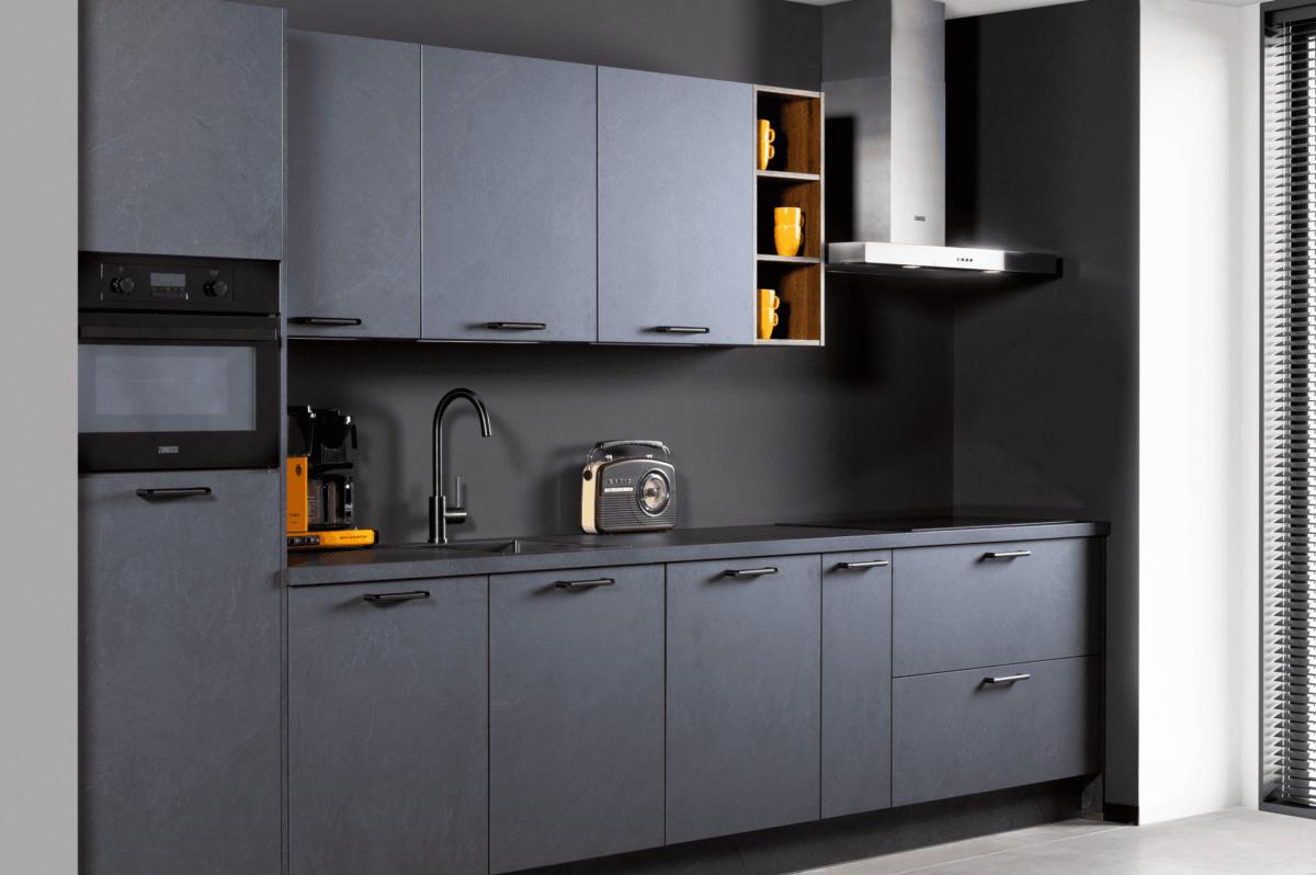 Donkere urban keuken